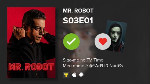I've just watched episode S03E01 of Mr. Robot! #mrrobot  #tvtime https://tvtime.com/r/1eJkO