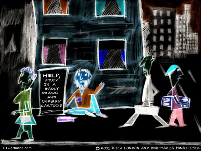 Bad #Cartoon by @LTCartoons #cartoons #humor #bizarre #strange #odd #weird #funny #comics #LTCartoons