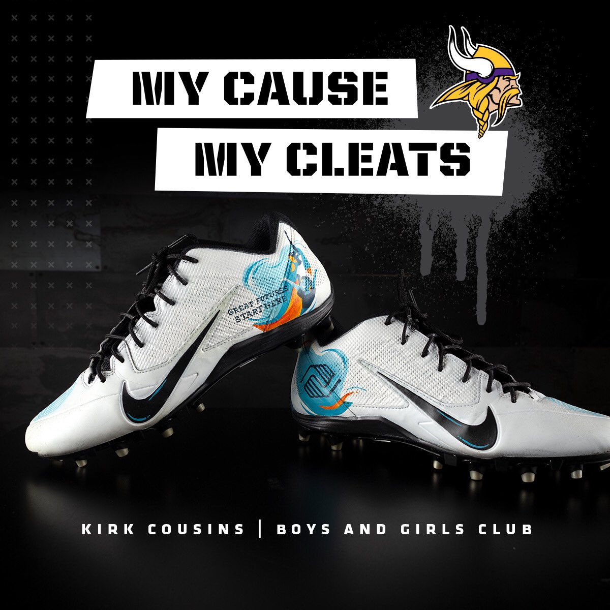 Julie and I are excited to work with Boys and Girls Club and welcome them as a new Generosity Partner of our Foundation. Looking forward to representing BGCA on Sunday with #MyCauseMyCleats!