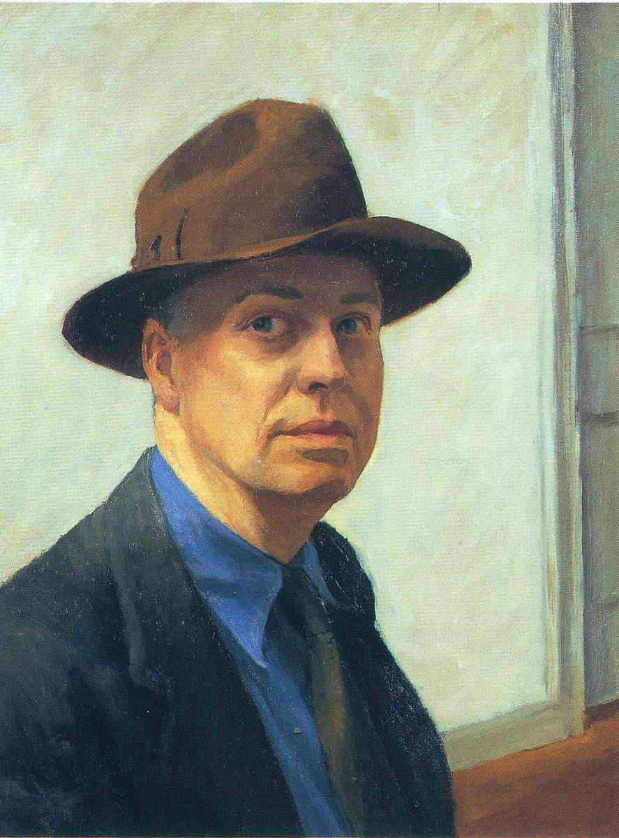 Self-Portrait, 1930 #newrealism #edwardhopper<br>http://pic.twitter.com/6Yehqxy5KB