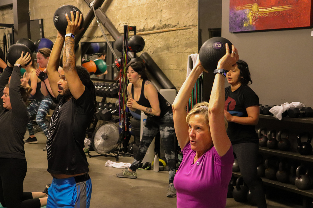 All of our classes are ALL LEVELS! Sign up for a FREE week of classes today!  #hellafit #truve #truvefit #fitness #exercise #health #fitwomen #fitmen #oakland #oaklandfitness #eastbay #bayarea #bestinoakland #strong #groupfitness #gym  #workout #community