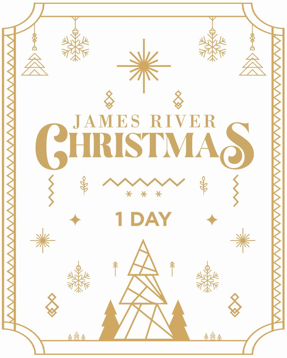 Only ONE day until James River Christmas! This weekend is going to be one to remember—make sure to invite all your friends and family🎄   #jrclife #jrchristmas #christmas #church #family #friends #fun