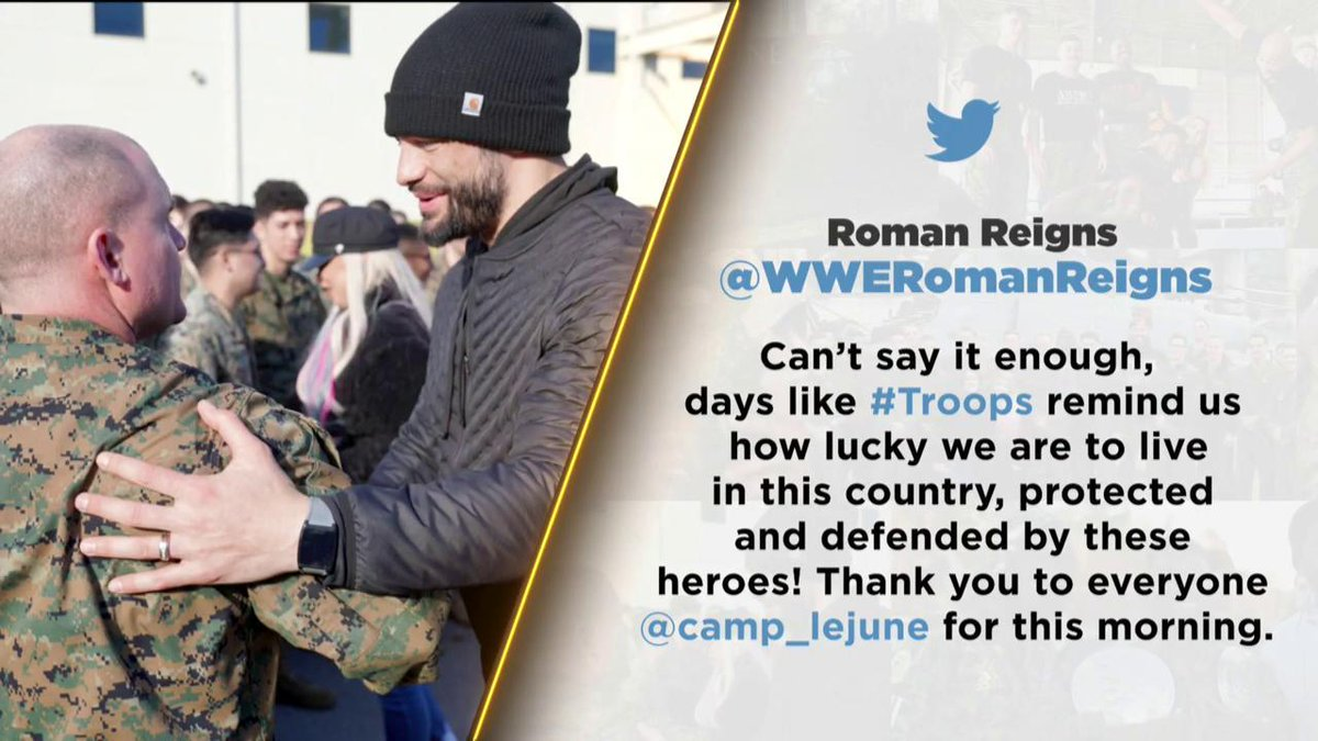 Forever thankful for our #Troops. @TributeToTroops #SmackDown https://t.co/eBvdKNtQC7