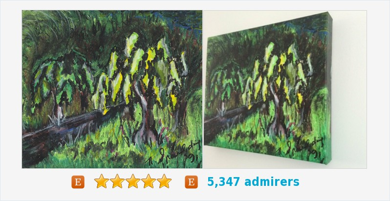 Abstract Country Path Painting Trees Title: SLEEPY HOLLOW #art #acrylic #painting