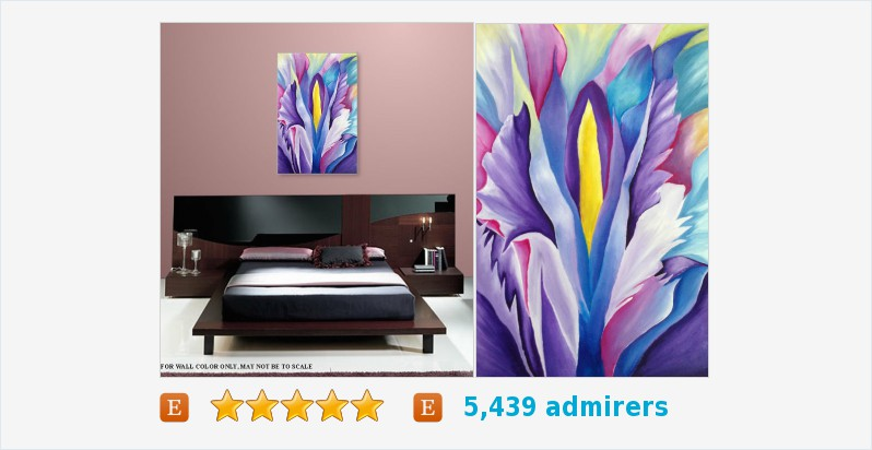 Abstract, Floral, decor, Red, Purple Title Explosion of Petals #art #acrylic #painting