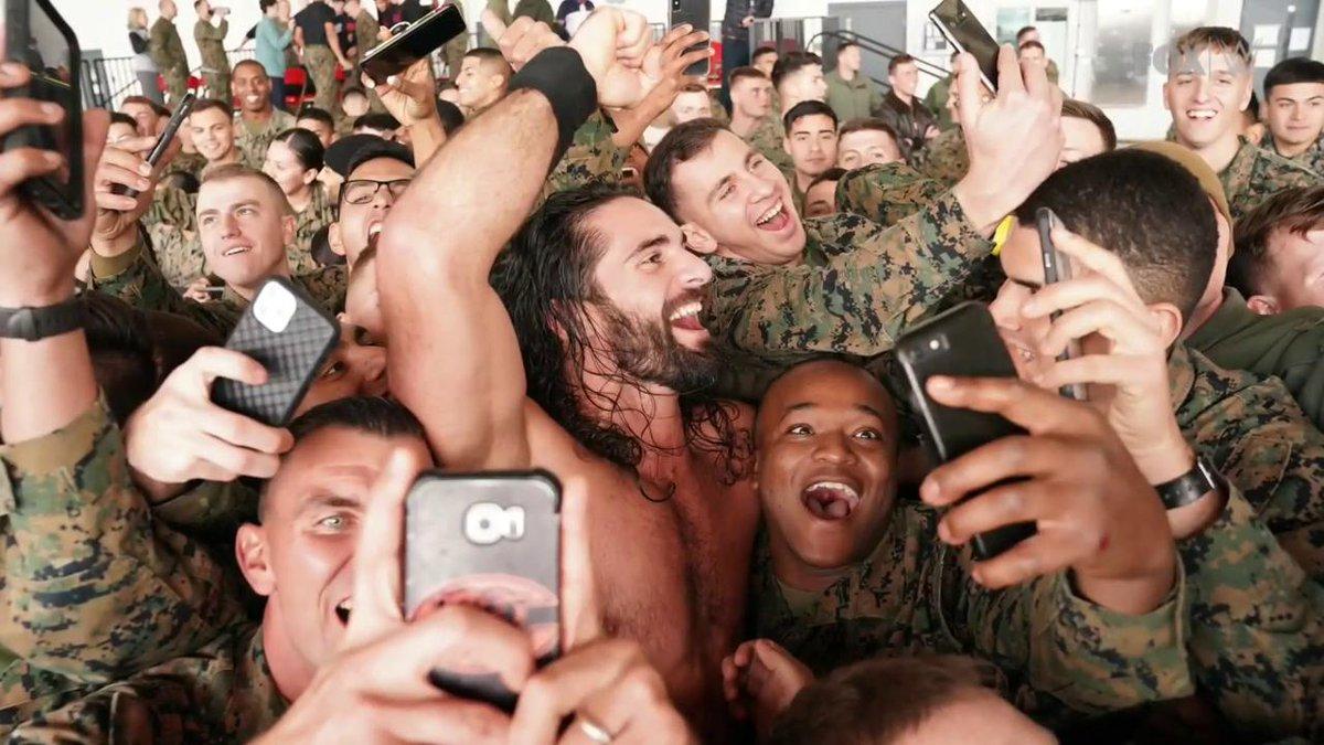 It's always an honor. #Troops #SmackDown @WWERollins 🇺🇸 https://t.co/50XooHpyg7