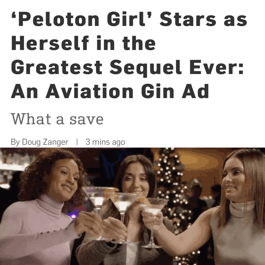 No one's more innovative than @AviationGin right now. Brand deserved all the praise in the world. Next level stuff.