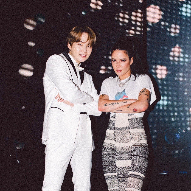 Suga and Halsey