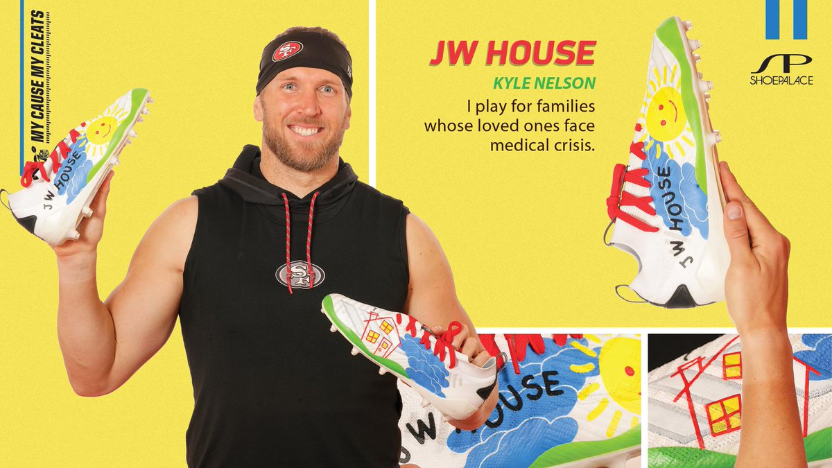 Special teams, special cleats & special causes. @KBNelson17 | @jwhouse_ @RobbieGould09 | #49ersFoundation @mitchwish | @GBRFoundation #MyCauseMyCleats by @ShoePalace