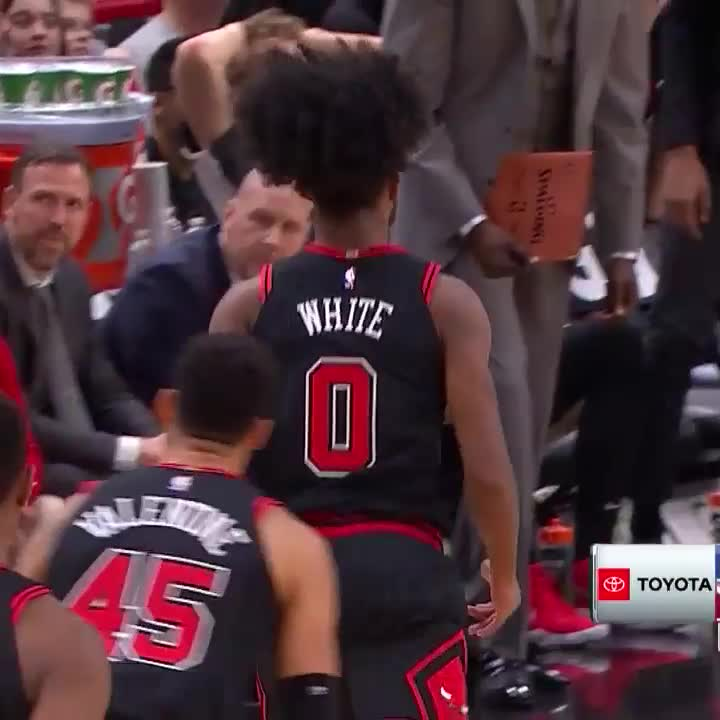 Coby White's step-back is    #BullsNation