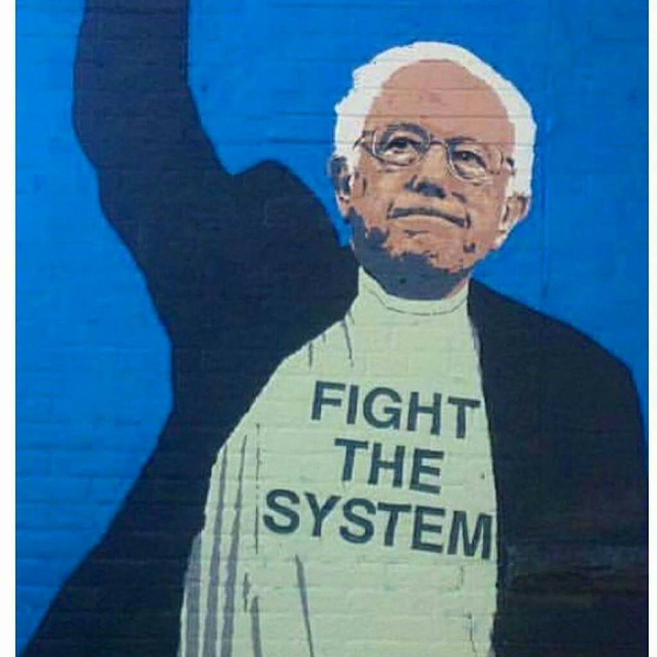 ummmm..... she is literally trying to ride @SenSanders coattails.  The platform she is running on is the same one she said was too progressive in 2016.  Where was she at Standing Rock? There is no way that she can beat 45. None.  #PresidentBernieSanders  #BernieSanders2020 <br>http://pic.twitter.com/69TPNWzLH2