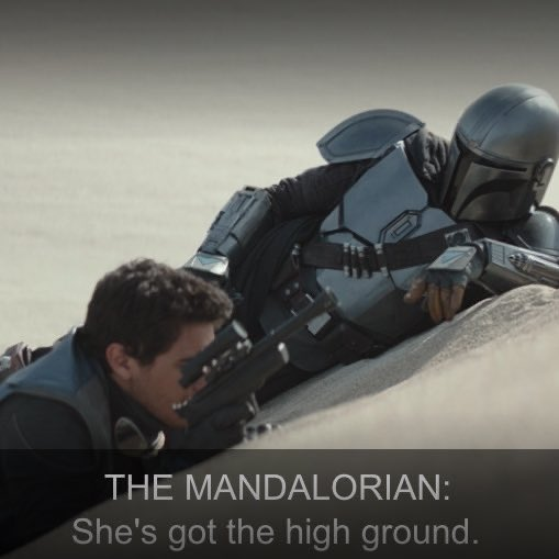Chapter Five had MANY great easter eggs, but this was the only one that made me cackle. #TheMandalorian  <br>http://pic.twitter.com/JjUUGqIecn