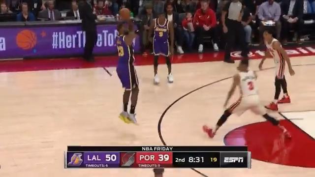 15-0  @Lakers run extends their lead!  : ESPN
