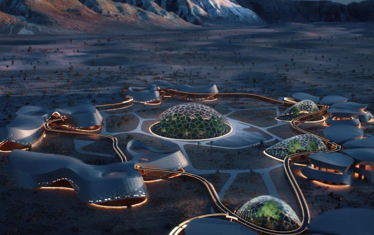 モハーヴェ砂漠に火星で生活するための研究としてバイオーム(生物群系)のネットワークが建設予定。かっこいい