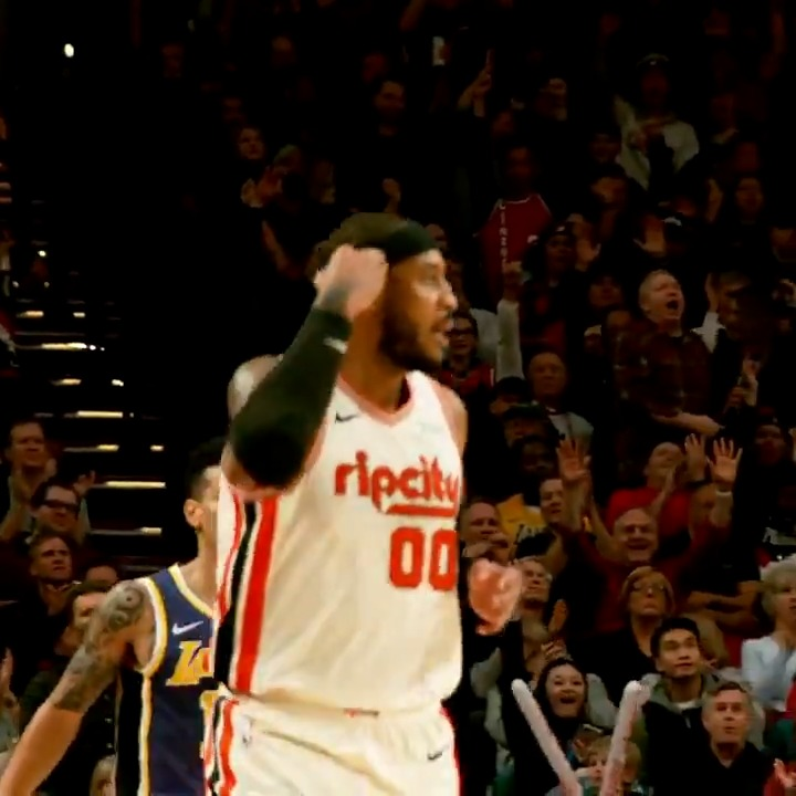 @carmeloanthony buries the triple in  #PhantomCam!  #RipCity    Watch the 2nd half on ESPN