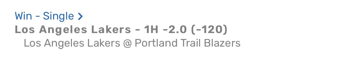 Prime Time JP🏀#NBA💥BOOM💥🎯Another #LakeShow 1st Half -2 💰#SWISH 👊🏽Books were crazy for this line ... 🤣