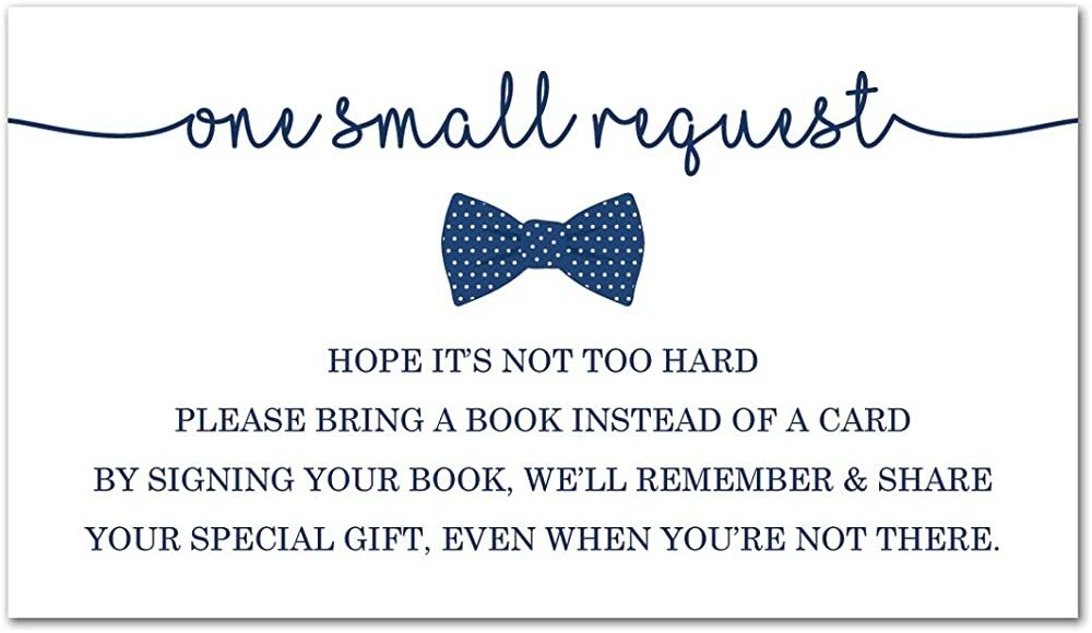48 Bow Tie Bring A Book Card (Navy)  #gifts #baby #babygirl #babyboy #parenting #toys #parentingtips #trending #blackfriday #thanksgiving