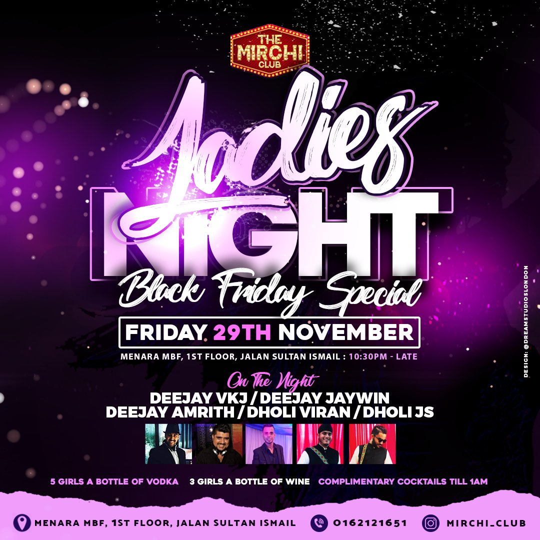 Our Malaysian clients loved the black Friday event flyer we created for them.   @mirchi_club  #KualaLumpur #MirchiClub #ClubMirchi #DreamStudiosLondon #LadiesNight #BlackFriday #Bhangra