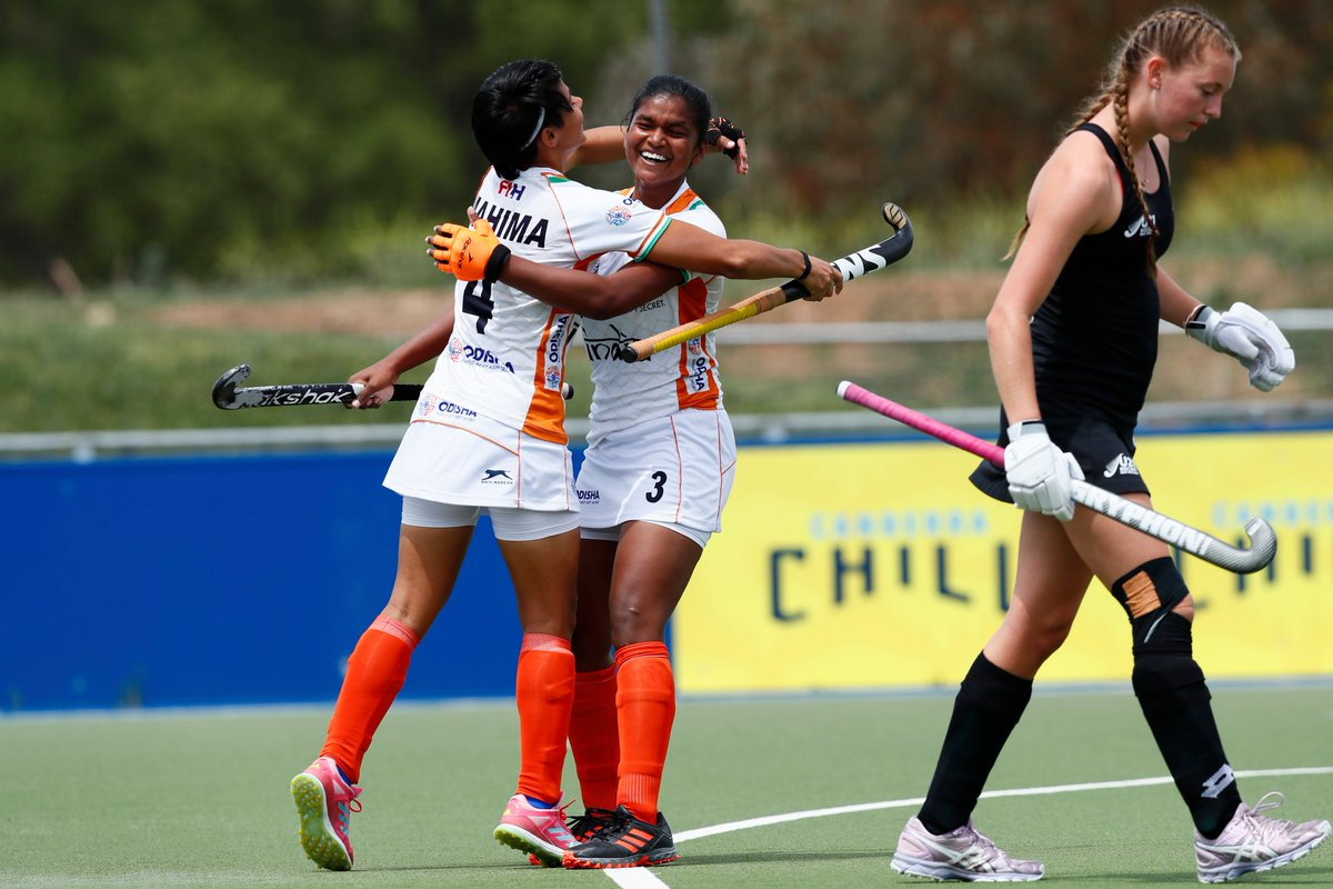 Did you get a chance to follow today's game?   If not, we've got you covered! Here are some images from the second last day of 3 Nations Tournament Australia (Jr. Women).  For more images:  http:// bit.ly/2RzDUGS      #IndiaKaGame #INDvNZL <br>http://pic.twitter.com/GAGBcmlGBI