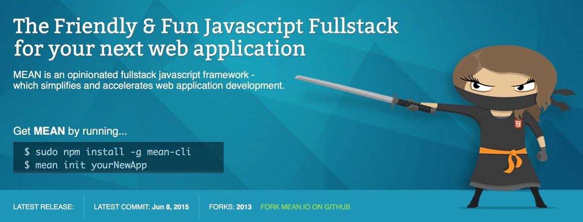 http:// MEAN.IO      http:// mean.io /    #Javascript #Framework MEAN is an opinionated fullstack javascript framework <br>http://pic.twitter.com/VoZgWKYLiS