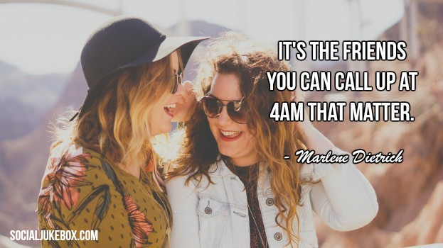 It's the friends you can call up at 4am that matter. - Marlene Dietrich #quote #weekendwisdom<br>http://pic.twitter.com/sVdwe1Wkgq