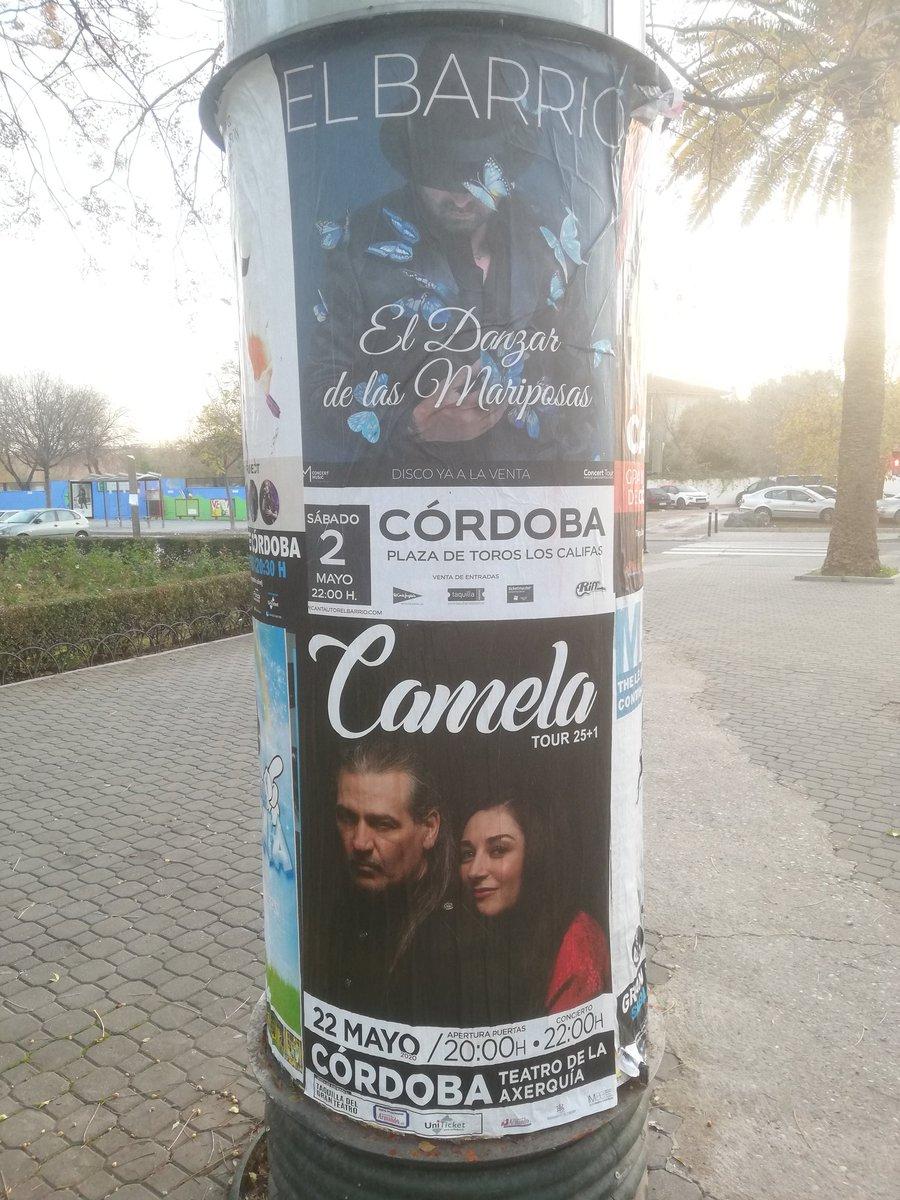 Ya tengo apuntados en la agenda los conciertos de @elbarrioficial y @camelaoficial. Muchísimas gracias por venir a #Cordoba.  Pedazo de #MayoCordobes que me voy a pegar. pic.twitter.com/Jl1C8wlQRS