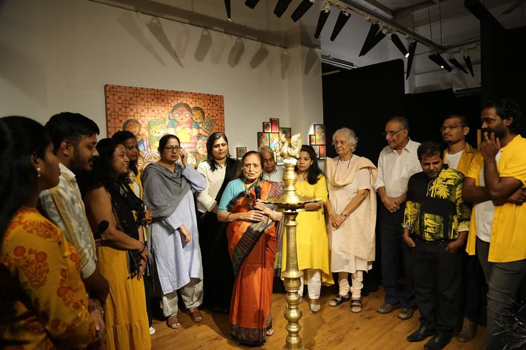 """Here we are! The show is on,Team Po10tial is happy to anounce the opening of our group show """"COLLECTIVE STAND"""" it was a pleasure to have all our family and friends to be part of the preview. We thank all for their kind visit and appreciation.   #mumbai #groupshow #ArtistsCentre<br>http://pic.twitter.com/cvHDjd6Od1"""