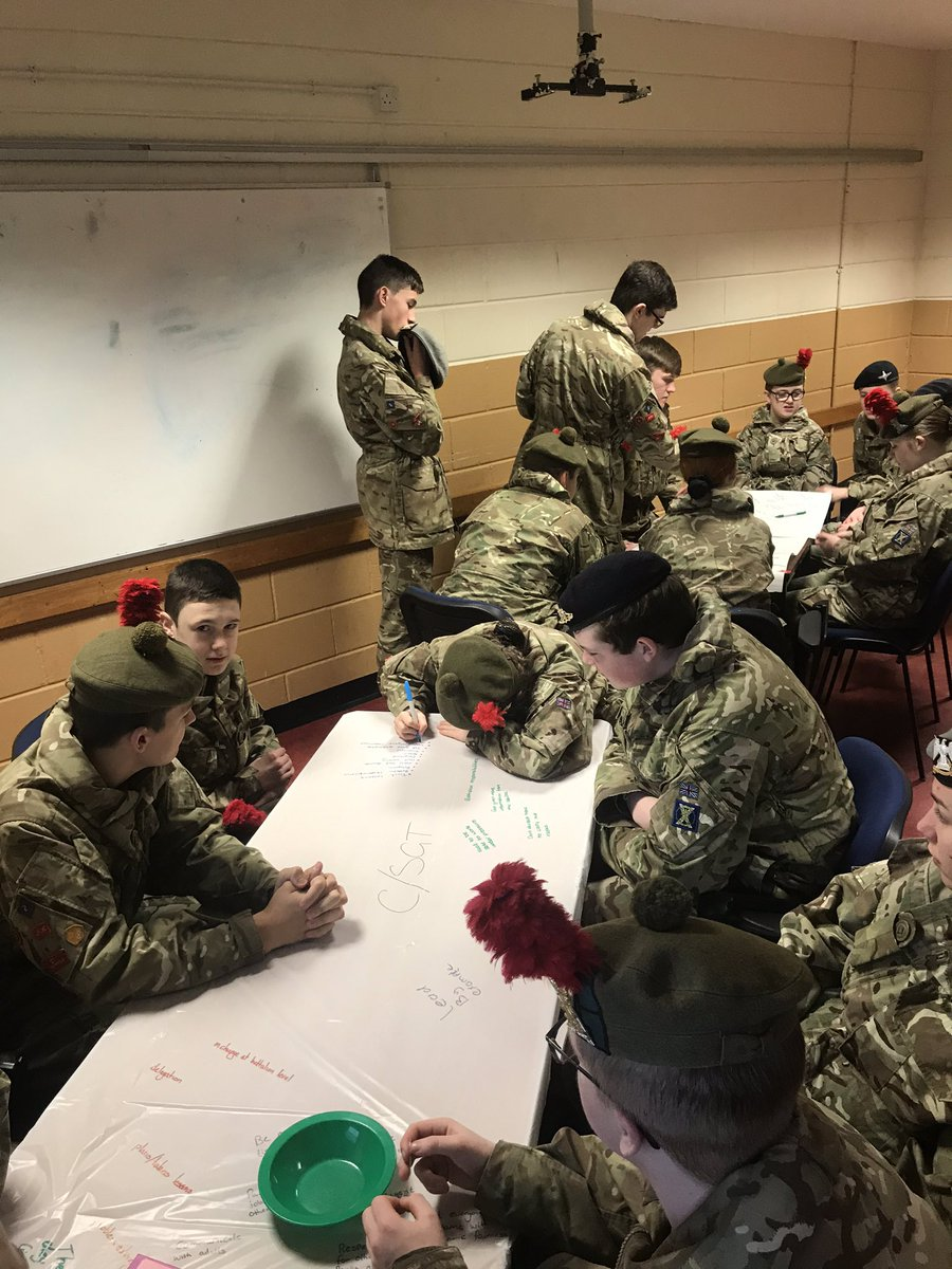 This morning Cadets  from @acfadbn are taking part in roles and responsibilities of and NCO. On our last weekend of the year 2019 @ArmyCadetsScot @ArmyCadetsUK @David_Harvey59 @ColCdts51X #acf #adnco2019