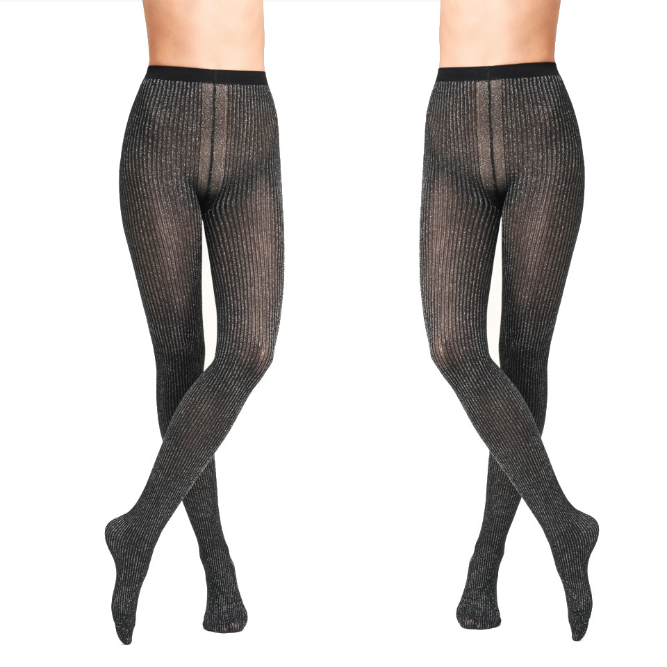 Get festive with these luxury, ribbed glitter tights from Wolford. A simple, durable design these party tights will see you through all party season and beyond!  . . . #wolford #wolfordtights #wolfordfashiontights #wolfordhosiery #luxurytights