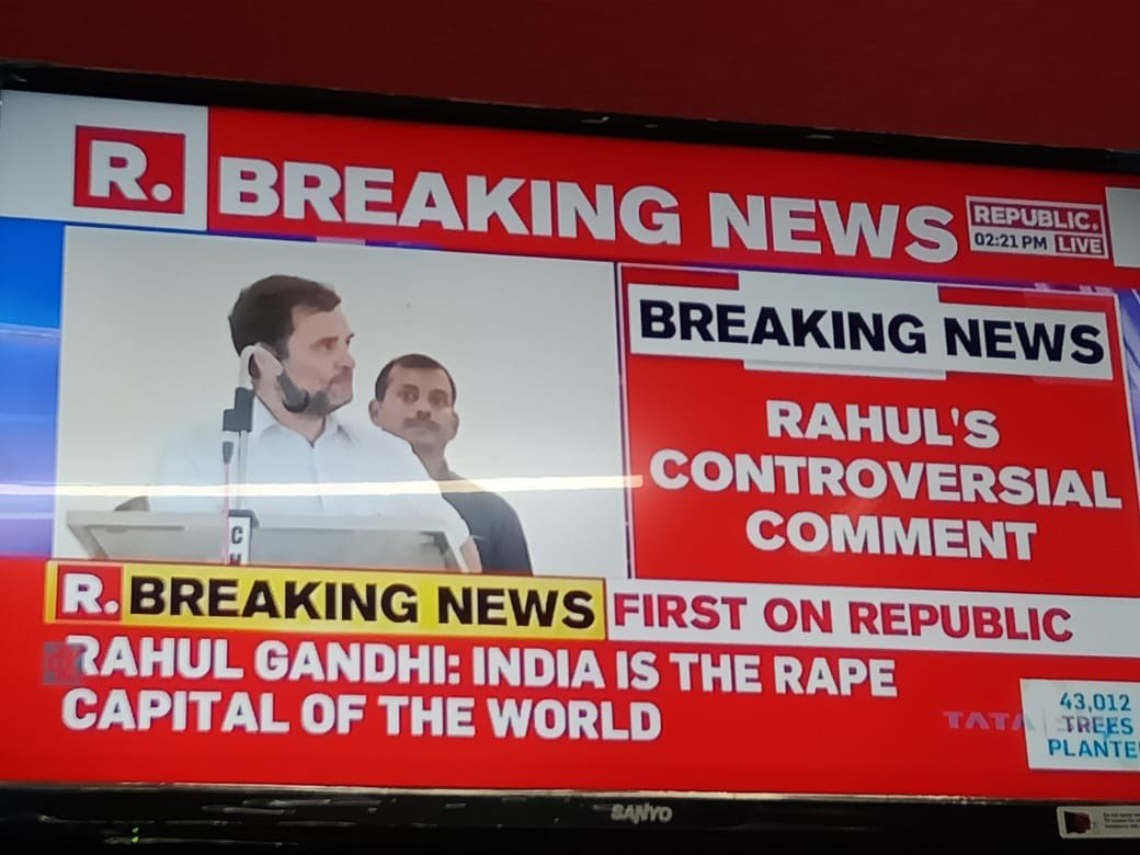 Rahul Gandhi says India is d rape capital of d world  Dear Rahul, Even though we condemn d rapes happening in our country,  D truth is dt we are in d 94th position & Ur mother's country Italy is in d 47th position.  It is high time dt u check ur facts be4 making such statements. <br>http://pic.twitter.com/XzhDtwrkR1