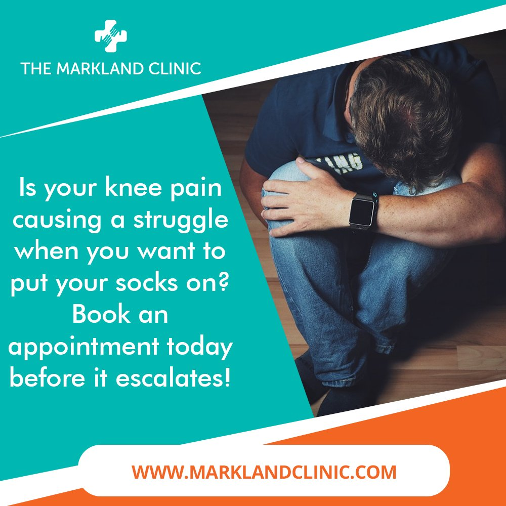 If your knee is aching or you have sharp pains, get advice now.   Be pain free here    The longer you wait the worse it can become!  #marklandclinic #pain #knee #physio #painfree #physiotherapy #physiotherapist