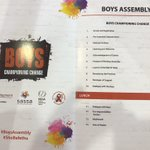 Image for the Tweet beginning: Western Cape #BoysAssembly at Knysna
