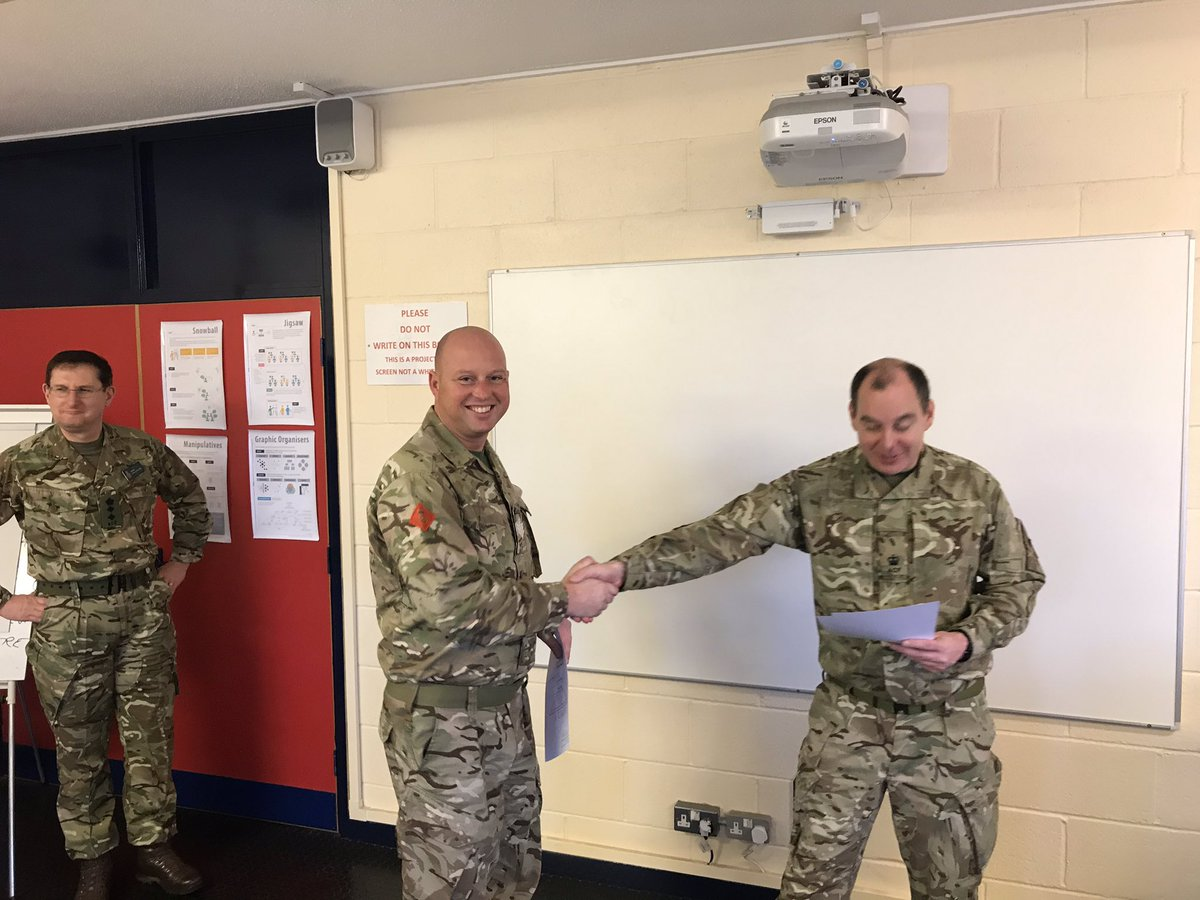 SSI D Bees receives his certificate after successfully completing the KGVI 1903 in Frimley park last week! #WellDone #ACF