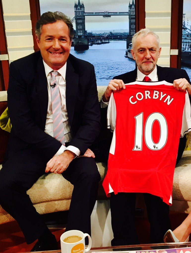 Great news - @jeremycorbyn has agreed to become new Arsenal manager & says he's going to spend £60bn on players including Messi, Ronaldo, Mbappe, Lewandowski, De Bruyne, Van Dijk, Sterling & Neymar.