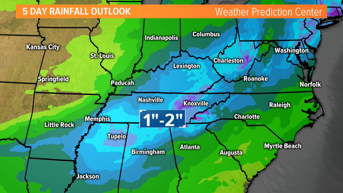 Our next chance of rain will move in late/overnight Sunday night into early Monday, then heavy rain may be possible late Monday overnight into Tuesday. Enjoy the nice and dry weather we have this weekend! #10Weather<br>http://pic.twitter.com/f6hEHcCQXx