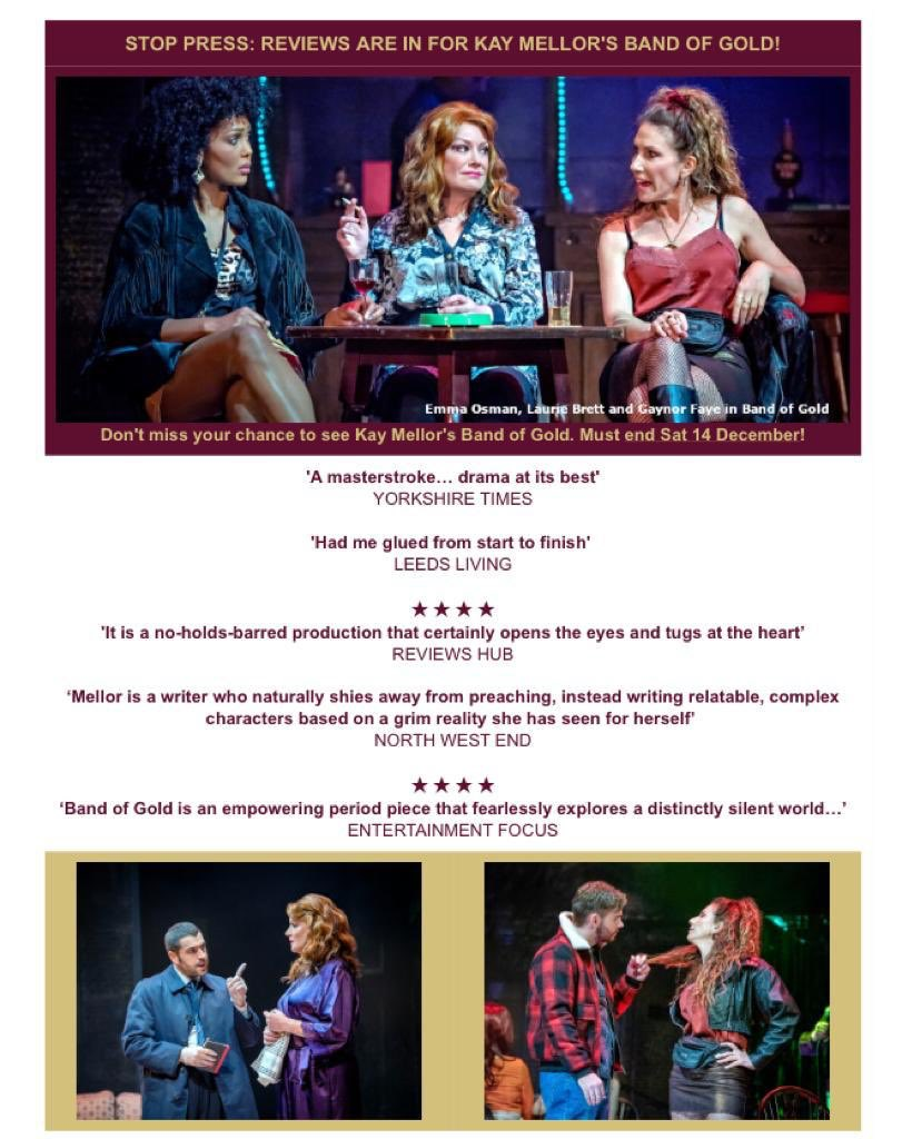 Just finished show 1/2 & been sent these snippets from  @BandOfGoldPlay reviews.  So chuffed - we're having a ball!!! ( 'scuse the pun) 💫❤️👠👠🌹👠👠❤️💫xxx https://t.co/I9m8VrAaRU
