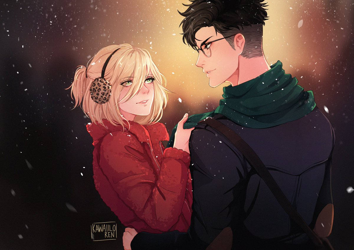 Finished a little winter themed Otayuri on my patreon livestream last night, which will be for the holiday cards  I will.... always... love them sdlfsl <br>http://pic.twitter.com/9uH61joFgY