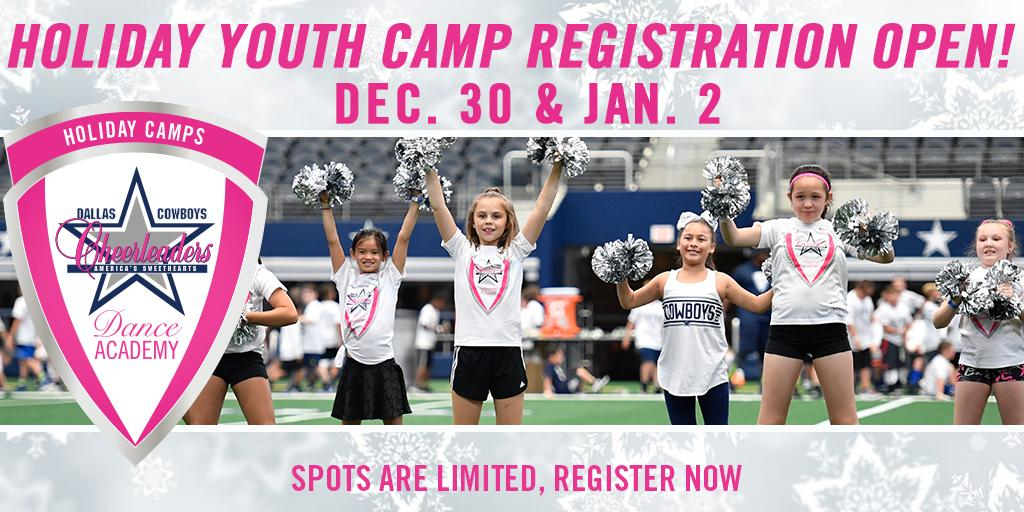 Secure your spot for the 1️⃣-day @DCCheerleaders Dance Academy youth camp. Develop technical skills, strong core values, and so much more! 🌟 Camps are available for dancers of all skill levels from 6-16. INFO → bit.ly/2P2G94d