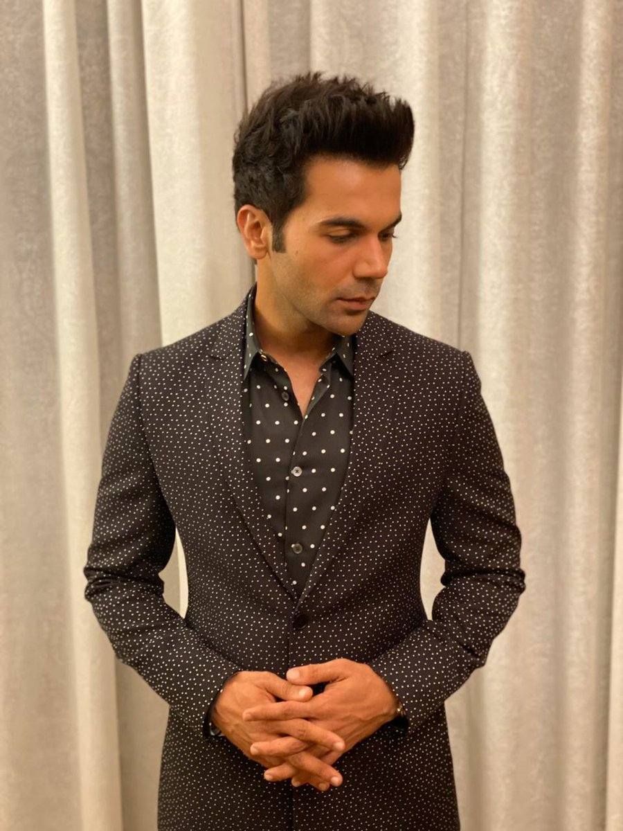 Handsome @RajkummarRao all ready for a panel discussion in Kolkata
