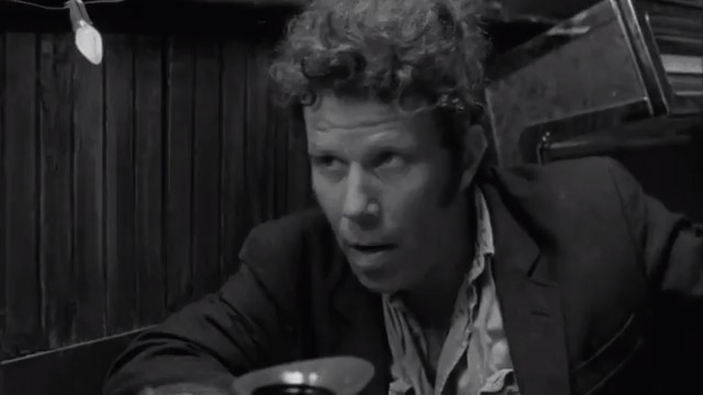 Tom Waits #BOTD and Iggy Pop feature in the 'Somewhere in California' vignette included in Jim Jarmusch's Coffee and Cigarettes (2003). Tom and Iggy engage in light conversation and celebrate quitting smoking by lightning up cigarettes over coffee, with Tom on the defensive.