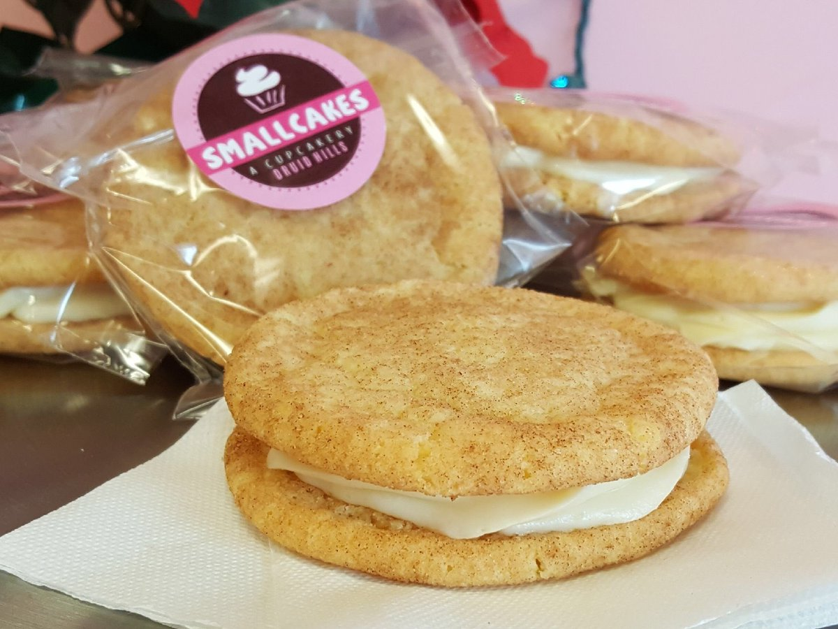 Something special for the #holidays y'all. #Snickerdoodle #cookiesandwiches filled with #creamcheese #frosting!