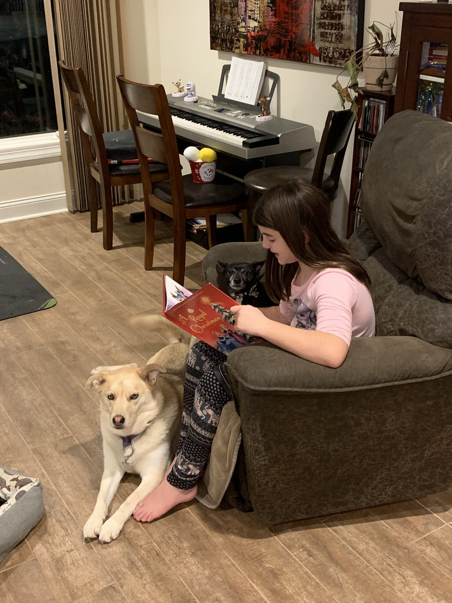 RT @MrsEholtkamp: Just READ! Even the puppies LOVE it 😍 #readeveryday #puppylove #christmasbooks #mygirl https://t.co/2WIHc3FU50
