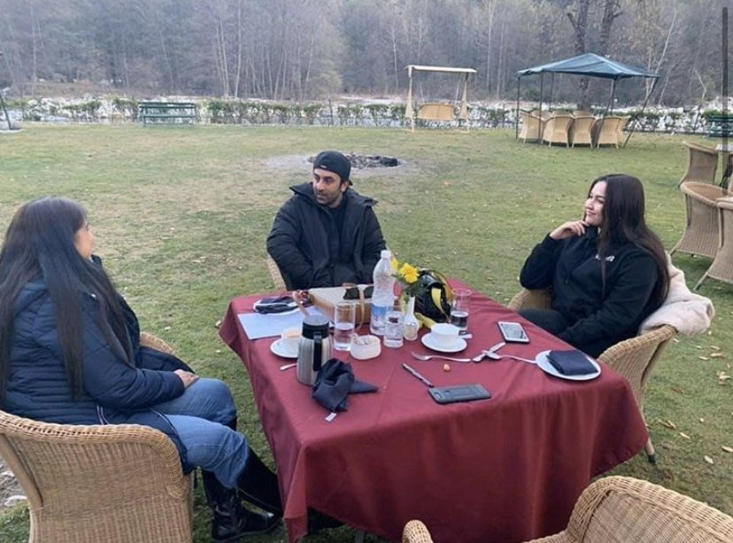 Just some pictures of #RanbirKapoor enjoying the Manali winter.