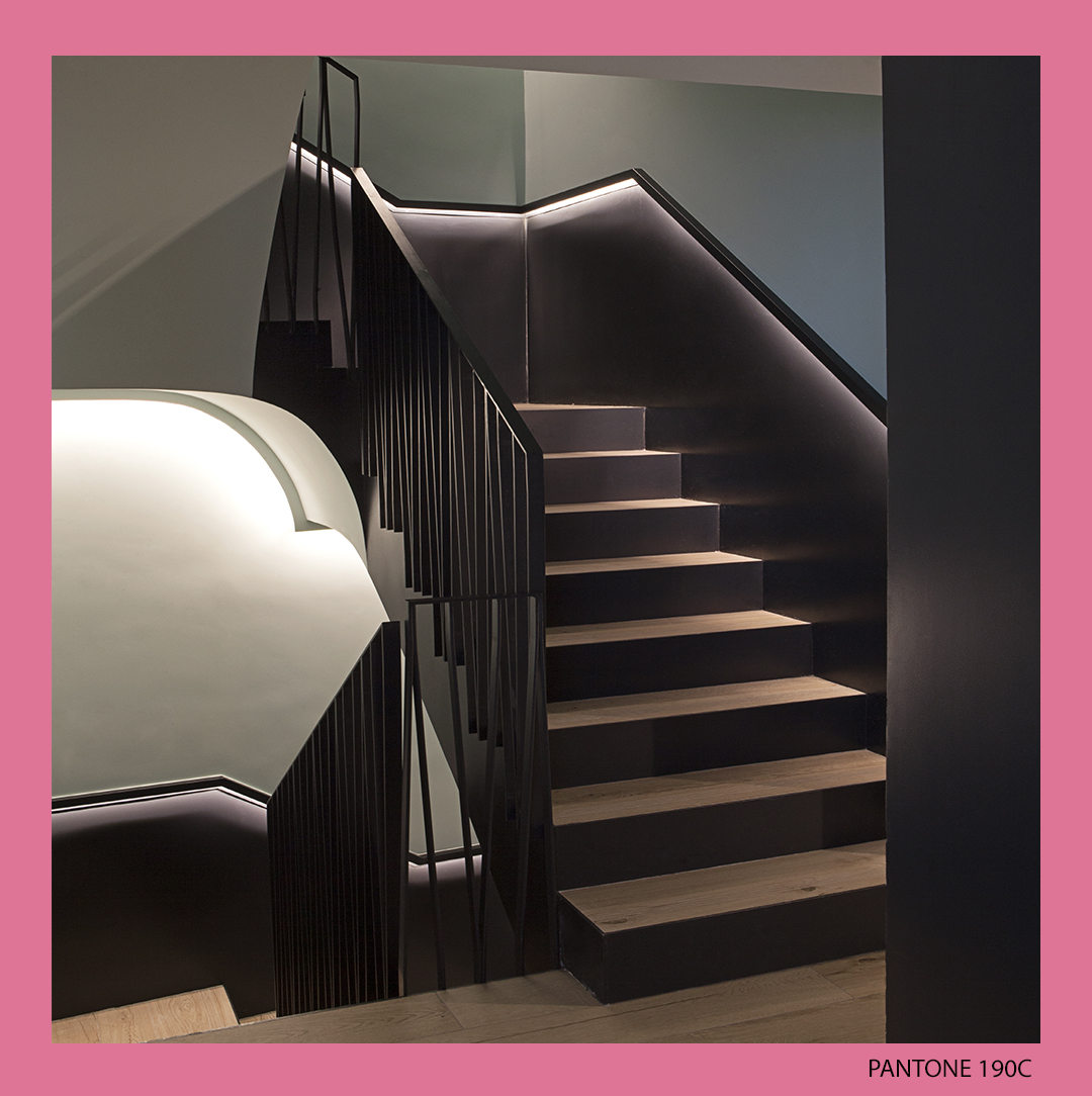 Stairs detail at @gancedo1945 store in Madrid, a black and white transition between floors, what do you think about it? https://t.co/xjhhv2TtBR