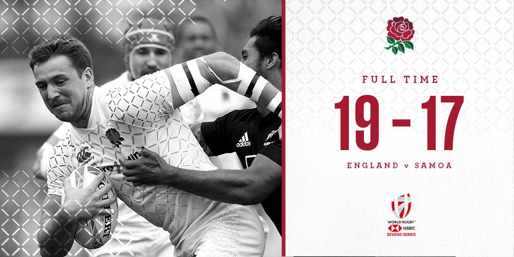 test Twitter Media - 🥉 England men score three tries to beat Samoa and finish third in the #Dubai7s 🌹 https://t.co/sa2i1kPwRx