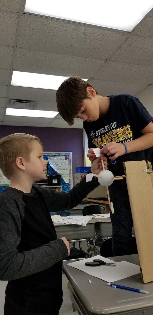 Mrs. Hoesli's class built wind turbines!