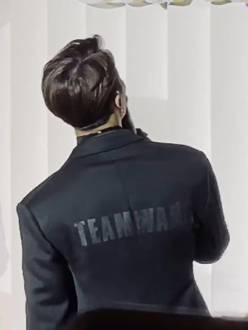 Suit - Jacket -Tshirt TEAM WANG.. Who's real behide your back. <br>http://pic.twitter.com/4wW3Su1UT1