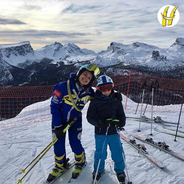 Primo giorno di lezioni di sci. ⛷