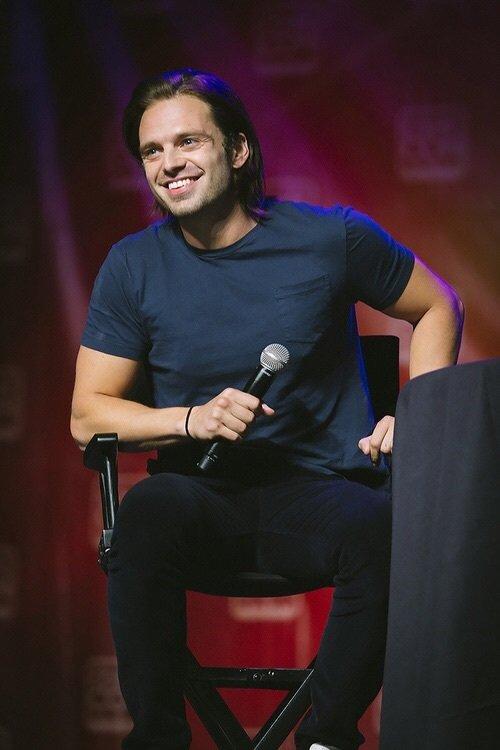 Gosh I love Sebastian long hair & smile  #SebastianStan #SaturdayMood <br>http://pic.twitter.com/OPSKw4Smnn