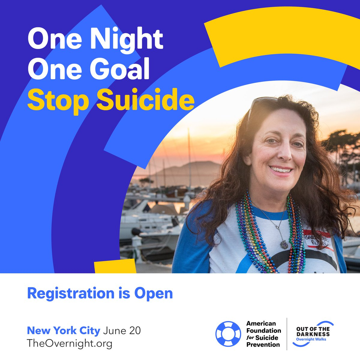 Join us for the 25th #OvernightWalk to honor yourself or your loved ones. We cant wait to walk with you in New York City on June 20th. Register using the promo code LAUNCH for a $25 registration fee and $100 fundraising credit! 💙 ➡️ theovernight.org/register